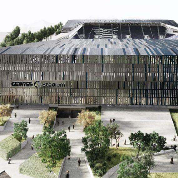 Render stadio Atalanta gewiss stadium a Bergamo